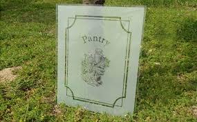 silk screen printing glass for pantry door