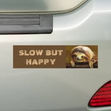 Happy Sloth Bumper Stickers Decals Car Magnets Zazzle