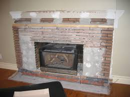 cement board over brick fireplace
