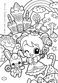 Sweets Coloring Pages Kawaii Kleurplaten
