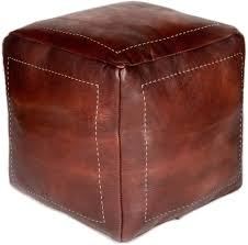 Beige Square Poufs Foot Stool Ottoman Microfiber Leather Poufs Bean Bag Wear Resistant Scratch Resistant Floor Chair Great For Living Room Bedroom And Kids Room Unstuffed Poufs Home Kitchen