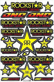 Buy Rockstar Energy Drink Decal Sticker Motorcross Race Logo Racing F1 Car Bike In Cheap Price On Alibaba Com
