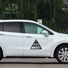 Earlfamily 58cm X 50 4cm Personality Illuminati All Seeing Eye Vinyl Car Wrap Decal Auto Motorcycle Decor Jdm Big Car Stickers Car Stickers Aliexpress