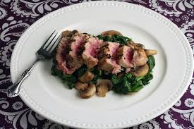 Grilled Ahi Tuna on a bed of Spinach ...