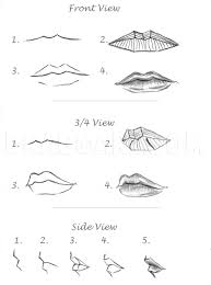 how to draw realistic lips sketch lips