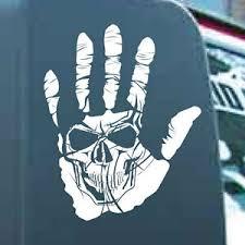 Hand Skull Vinyl Sticker Decal Grunge Undead Wave Graphic Car Ebay