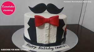 tuxedo birthday cake for men design