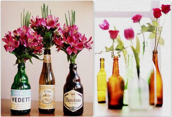Resultado de imagem para garrafas com flores