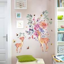 Christmas Flower Elk Deer 3d Removable Wall Sticker Wall Home Glass Window Decoration Wish