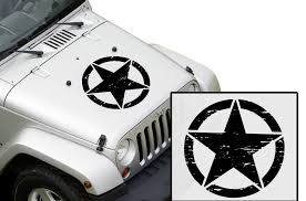 Jeep Wrangler Hood Damaged Army Star Factory Crafts