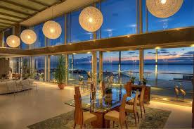 ocean view home with open floor plan