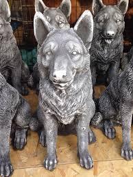 german shepherd garden statue german