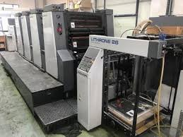 4 colour offset printing machine for