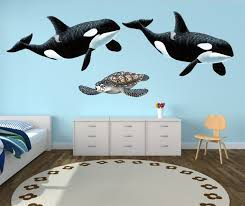 Orca Wall Decal Ocean Wall Decals Underwater Wall Stickers