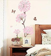 Amazon Com Wall Sticker Creative Living Room Background Wall Self Adhesive Wallpaper Painting Warm Bedroom Bedside Wall Decorative Flower Wallpaper Baby