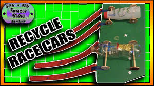 homemade recycle race cars kids crafts