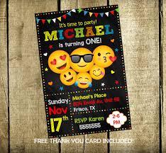 Emoji Party Emoji Invitation Emoji Birthday Party Emojis