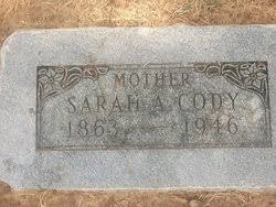 "Sarah Adeline ""Addie"" George Cody (1863-1946) - Find A Grave Memorial"