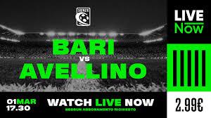 Bari-Avellino in streaming: segui la partita su LIVE NOW