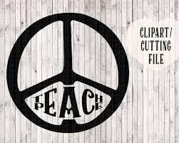 Teach Peace Svg Vinyl Wall Decal Cut File Vinyl Designs Svg Etsy