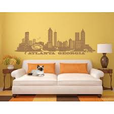 Atlanta City Skyline Cityscape Wall Decal Contemporary Wall Decals By Style And Apply