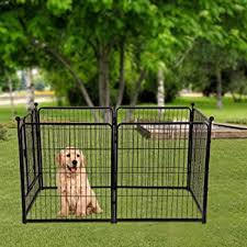 Amazon Com Pet Playpen Dog Pen Foldable Portable Metal Dogs Fence Puppy Cat Exercise Pets Kennels Barrier Fence Indoor Outdoor Travel Camping Play Yard Us Direct Black Home Improvement