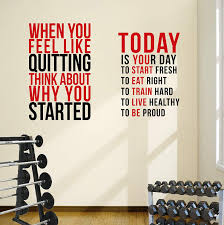 Amazon Com Designdivil 2 Large Gym Club Motivational Wall Decal Quotes Fitness Exercise Great Savings Home Kitchen
