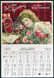 Coca Cola Calendar With Hilda Clark 1901 - info@bmsbiz.com
