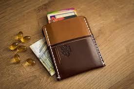 business card case leather wallet men