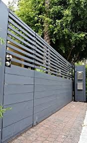Front Yard Driveway Gate Fence Design Modern Fence Design Driveway Gate
