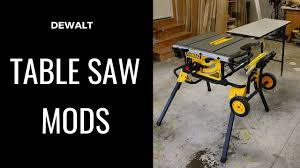 Efficiency Modifications I Made To Dewalt Dwe7491rs Table Saw And Rousseau Outfeed Table Youtube