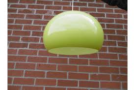 retro lime green lampshade vinterior