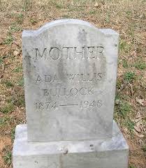 Burial Details: Ada Powell Bullock