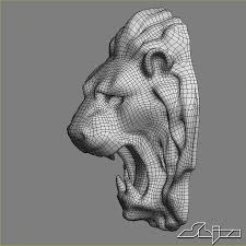 Lion Head Sculpture 3D Model $38 - .max ...