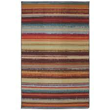 vogel striped brown orange area rug