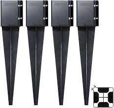 Fence Post Anchor Ground Spike Post Support 24 Inch X 3 5 X 3 5 4 Pack Supports Fenceposts Mailbox Amazon Ca Tools Home Improvement