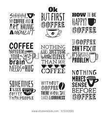 set hand drawn cup quotes vector stock vector royalty