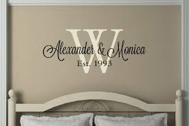 Amazon Com N Sunforest Personalized Couple Name Monogram Wedding Gifts Wall Decal Vinyl Wall Bedroom Decor Home Kitchen