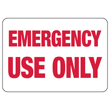 Emergency Use Only Self Adhesive Vinyl Exit Signs Seton