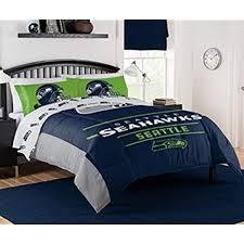 Amazon Com The Northwest Company Nfl Seattle Seahawks Monument Full Queen Comforter Set 887166350 Kitchen Dining