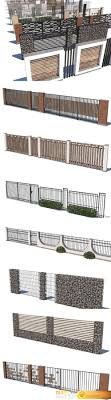 Modern Fence Collection Vr Ar Low Poly 3d Model All Free 3d Models Library