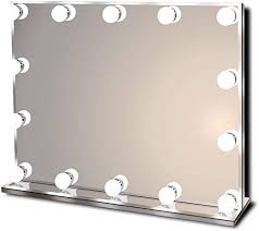 hollywood lighted vanity makeup mirror