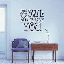 Classic Owl Wall Sticker Owl Always Love You Wall Art Exclusive Diy Owl Quotes Wall Decals Wish