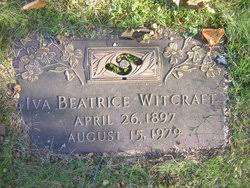 Iva Beatrice Kennedy Witcraft (1897-1979) - Find A Grave Memorial