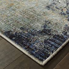 evolution navy abstract rug