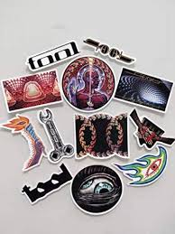 Amazon Com Tool Band Decal Sticker 12pcs Skateboard Guitar Travel Case Laptop Luggage Car Stickers Kitchen Dining