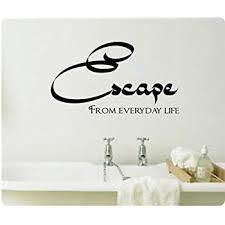 Amazon Com 24 Escape From Everyday Life Spa Bathroom Wall Decal Sticker Art Home Decor Bath Bathroom Tub Home Kitchen