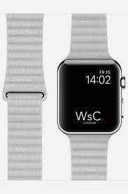 wsc leather loop apple watch strap