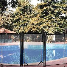 Amazon Com Happybuy Pool Fence Gate 4x2 5 Ft Pool Safety Fence Gate Kit 1000d Powder Coated Aluminum Pipe Pool Fences For In Ground Pools 340gsm Grid Cloth Life Saver Pool Fence