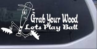 Funny Lets Play Ball Baseball Decal Car Or Truck Window Decal Sticker Rad Dezigns